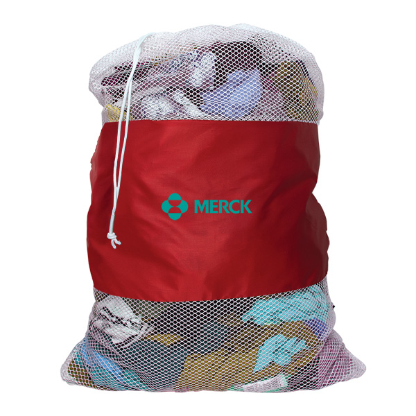 P9177 Windgrove Mesh Laundry Bag Red
